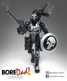 Custom Action Figure Marvel Legends - Punisher/Captain America/Ironman mashup