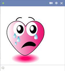 Tearful heart for Facebook
