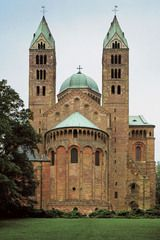 Exterior, Speyer Cathedral, Germany. c 1080-1106 and second half of 12th century.