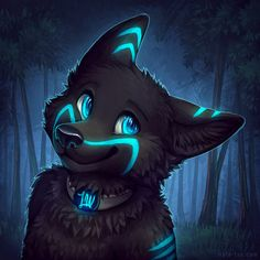 Icon Fee for Lone Wolf What a candy glowy pupper Animal Art, Animal Drawings, Character Art, Cute Wolf Drawings, Cartoon Animals, Drawings, Creature Art, Anime Wolf, Cute Animal Drawings