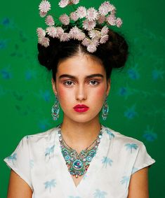 "❀ Flower Maiden Fantasy ❀ beautiful photography of women and flowers - Alaya Bar, nella ""realtà"" di Frida Kahlo 