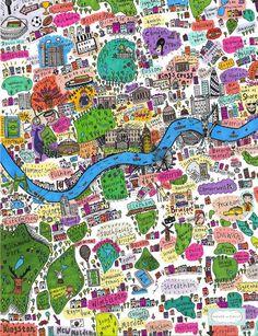 Illustrated map of London - artist?