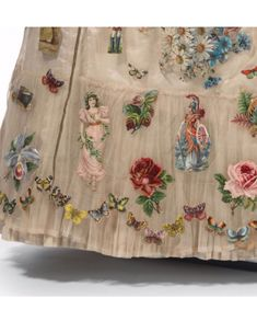 """Scrap Album"" fancy dress designed by Sarah Ann Gough, London, c. 1890s Fashion, Vintage Fashion, Fancy Dress Design, Sarah Ann, Designer Dresses, Scrap, Album, London, Chrysanthemum"