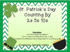 Here's a St. Patrick's day themed skip counting activity.