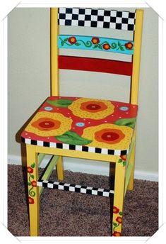 Boyalı sandalye