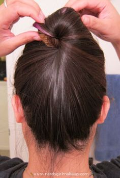 Easy way to put up long hair without clips, bands or anything!