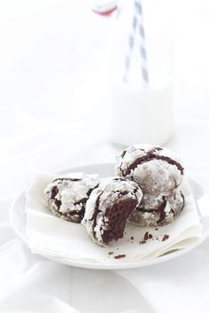 Epicurean Mom: Triple Chocolate Crackle Cookies