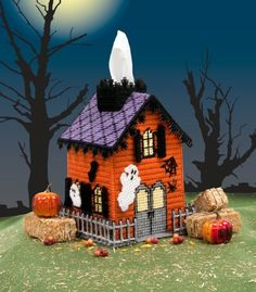 Haunted House Tissue Box Cover