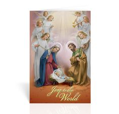 Christmas Cards-Holy Family with Angels-Box of 10
