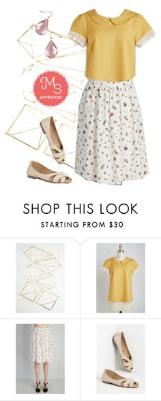 """You Look Wonderland Tonight Skirt"" by modcloth ❤ liked on Polyvore featuring women's clothing, women's fashion, women, female, woman, misses, juniors, modcloth, valentinesday and springwear"