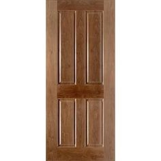 Image of Walnut 4P Moulded Veneer Fire Door, Pre-finished, 1/2 Hour Fire Rated