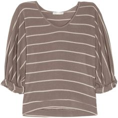 Kain Viola striped stretch-modal sweater ($55) ❤ liked on Polyvore