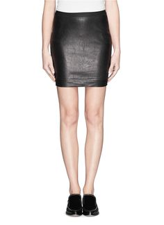 Leather with the perfect amount of stretch. HELMUT LANG - Leather skirt   Pretty Little Liars