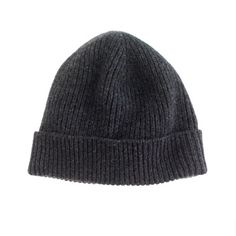 J Crew Cashmere hat, fits great and super soft. Also a great choice.