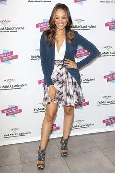 tia mowry skirts | ... for Flumist Quadrivalent, New York, America - 23 Sep 2013Tia Mowry