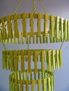 clothespin chandelier