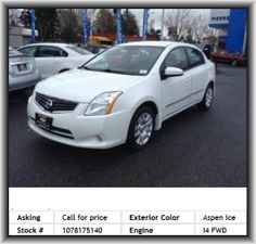 2012 Nissan Sentra 2.0 Sedan  Fuel Type: Regular Unleaded, Front And Rear Suspension Stabilizer Bars, Cloth Seat Upholstery, Interior Air Filtration, Rear Seats Center Armrest, Door Reinforcement: Side-Impact Door Beam, Tires: Prefix: P, Front Leg Room: 42.4, Engine Immobilizer, Gross Vehicle Weight: 3, Clock: In-Radio Display, Overall Width: 70.5, Seatbelt Pretensioners: Front, Center Console: Full With Covered Storage, Instrumentation: Low Fuel Level, 4-Wheel Abs Brakes