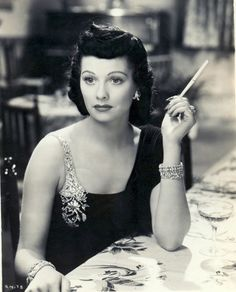 A raven haired Lucille Ball. She's always reminded me of one of my aunts, and now even more so with the dark hair.