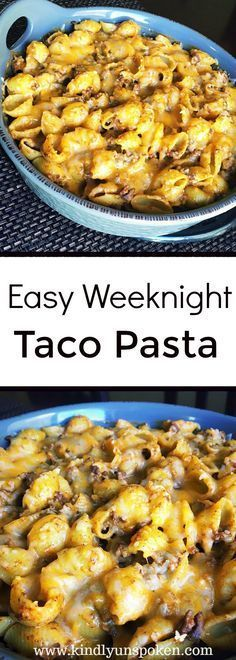 Easy Weeknight Taco Pasta -This Easy Weeknight Taco Pasta combines the wholesomeness of pasta with the delicious flavors of cheesy, beef tacos and will be enjoyed by the whole family! food recipes easy Easy and Delicious Weeknight Taco Pasta Pate A Tacos, Casserole Dishes, Casserole Recipes, Taco Casserole, Taco Pasta Recipes, Taco Pasta Bake, Cheap Pasta Recipes, Chicken Recipes, Recipe Pasta