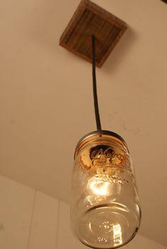 rope mason jar lights. mason jar chandelier pendant by bornagainwoodworks, $75.00 rope lights a