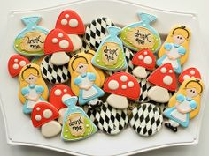 Alice in Wonderland Cookie Platter HR