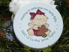 Baby Shower Favors  - Santa Baby Design #2 (Girl)
