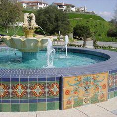 Mexican Hacienda With Tile Fountain Handmade Tiles