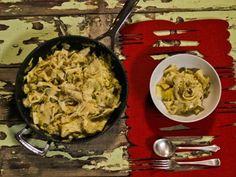 Braised Leak and Bacon Papardelle - Ilse Nel - The Gourmet Princess White Wine, Parmesan, Olive Oil, Bacon, Grains, Garlic, Salt, Butter, Eggs