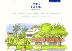 Think. Outside the box! Mexico's Hotel Esencia is a luxurious, boutique hotel. Their website is adorable. Look closely and you'll see some good old fashion animation. :-) Found here: http://www.awwwards.com/best-websites/hotel-esencia