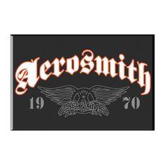 Aerosmith Magnet, 1970 Classic Wings & Old English Logo, Aerosmith Wings Magnet, Aerosmith Novelties, Aerosmith Merchandise English Logo, Old English, Examples Of Logos, Stevie Ray Vaughan, Debbie Harry, Robert Plant, Keith Richards, Freddy Krueger, Aerosmith