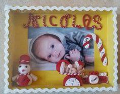 Quadretto nascita personalizzato Natale