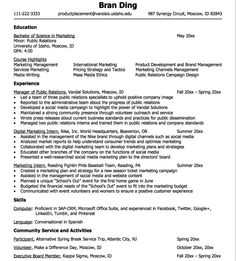 Marketing Intern Resume Home Help Cover Letter Example  Httpexampleresumecvhome