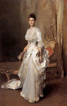 John Singer Sargent Mrs Henry White (1883), Washington, Corcoran Gallery of Art.
