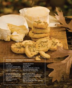 Sweet Paul Magazine - Fall 2010 - Enchanted Forest Menu {Fennel and Parmesan Shortbread}