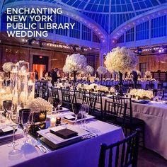 Wedding Decorations, Wedding Venues, NYC Public Library, Floral Arrangements, Babys Breath