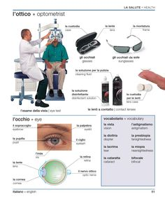 Learning Italian - Optometrist
