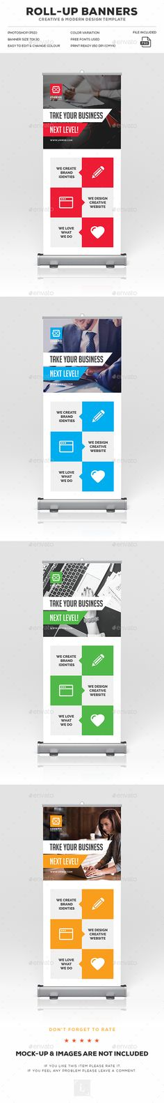 Corporate Roll-Up Banner Template PSD. Download here: https://graphicriver.net/item/corporate-rollup-banner/17029704?ref=ksioks