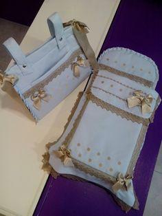 Conjunto para capazo de Bebecar con todos los detalles clásicos posibles,puntillas,ondulinas,bodoques,lazos,...  El saco con colcha se confe...