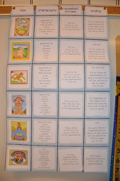 Gingerbread stories chart