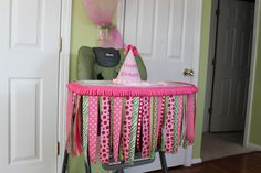 Image detail for -such a cute way to fancy up the high chair