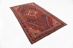 Red 4' 3 x 7' 6 Tuiserkan Persian Rug | Persian Rugs | iRugs UK