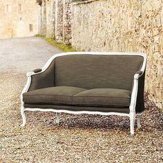 Bergamo Upholstered Settee.  Gorgeous