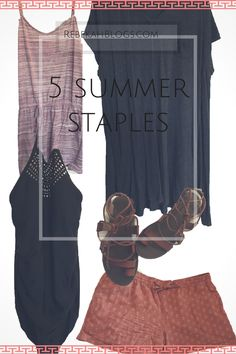 I'm going out of my comfort level and talking about summer staples! These are items you just gotta get that work great for summer and can even be transformed to spring and early fall