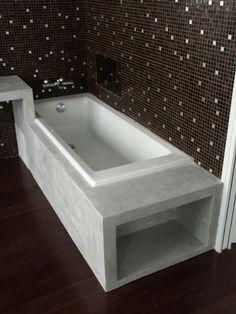 tablier de baignoire en blocs de béton cellulaire | salle de bain ...