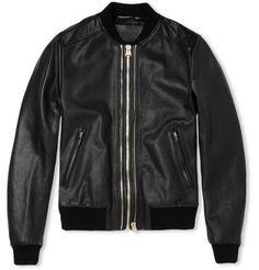 Full Grain Leather Jacket - Dolce & Gabbana