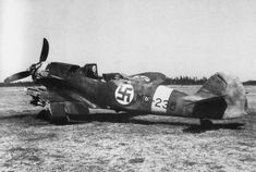 Finnish fighter Bf.109G-2 / Trop, broken in a collision with an aircraft of his squadron