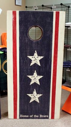 Land of the Free Home of the Brave  Cornhole Set by back40life, $179.00