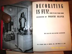 Dorothy Draper decorating book, 1939