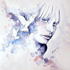 Faces of Persephone II - Jane Beata is an artist from Modra, Slovakia who painted amazing colorful drawings. She captures emotions in her works in a softness and surreal style.