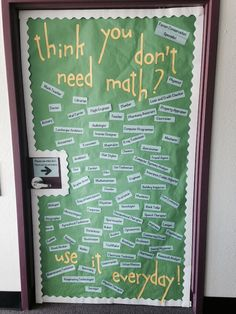 {image only} Final classroom door - think you don't need math? {image only} Final classroom door Middle School Classroom, Math School, Classroom Door, Classroom Supplies, Classroom Seats, Classroom Borders, Classroom Layout, Math Teacher, Teaching Math